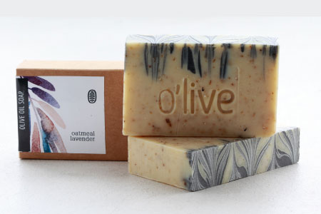 Oatmeal and lavendar soap